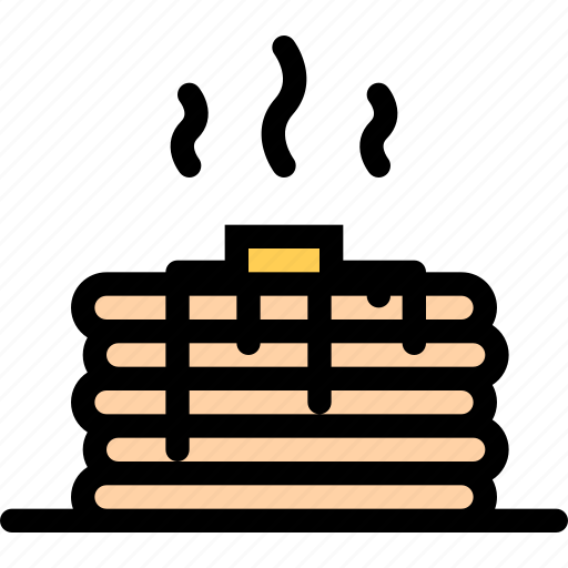 cafe, fast food, food, kitchen, pancake, restaurant icon