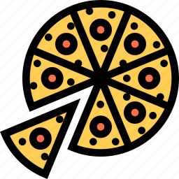 cafe, fast food, food, kitchen, pizza, restaurant icon