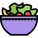cafe, fast food, food, kitchen, restaurant, salad icon