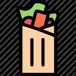 cafe, fast food, food, kitchen, restaurant, shawarma icon