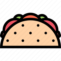 cafe, fast food, food, kitchen, restaurant, taco icon