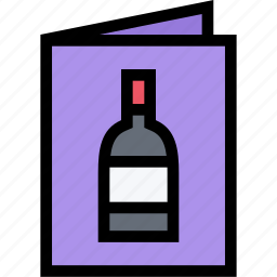 cafe, fast food, food, kitchen, list, restaurant, wine icon