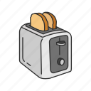 appliences, bread, household, kitchen, toast, toast maker, toaster