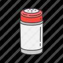 household, kitchen, pepper, salt, salt cellar, salt shaker, spices
