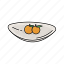 dessert, food, fruits, household, kitchen, plate icon