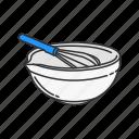 basin, bowl, food, household, kitchen, pot, whisk