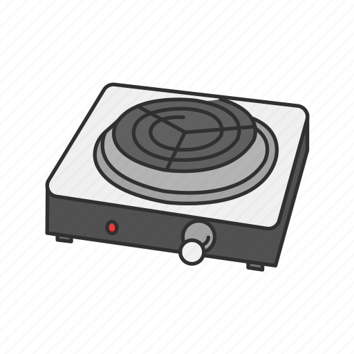 Cooker, cooking, electric stove, heater, kitchen, oven, stove icon - Download on Iconfinder