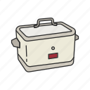 appliances, cooker, kitchen, machine, rice, rice cooker, rice steamer icon