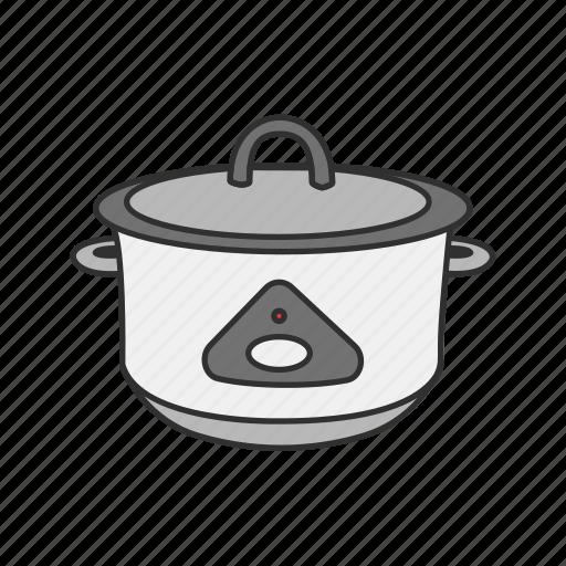 Appliances, cooker, kitchen, machine, rice, rice cooker, rice steamer icon - Download on Iconfinder