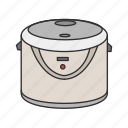 appliances, cooker, kitchen, machine, rice, rice cooker, rice steamer icon