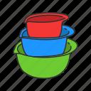 basin, bowl, container, food, food bowl, kitchen, pot