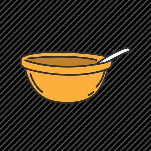 Basin, bowl, egg stirrer, food bowl, pot, utensil icon - Download on Iconfinder