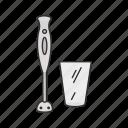 food, glass, kitchen, mix, mixer, tool, utensil icon
