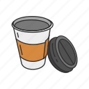 beverage, coffee, coffee cup, container, cup, drink, tumbler icon