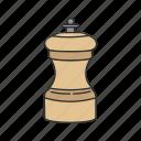 cooking, grinder, kitchen, pepper, pepper grinder, seasoning, spices
