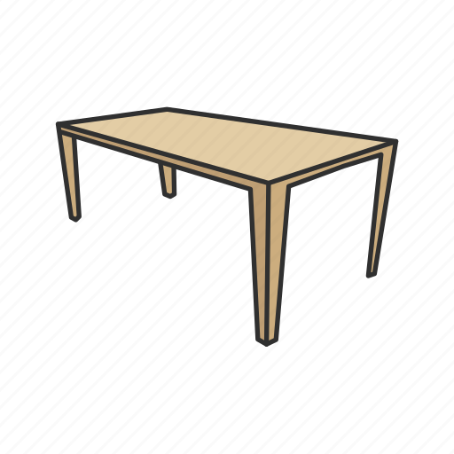 Coffee table, dinner table, household, kitchen, rectangular table, table icon - Download on Iconfinder