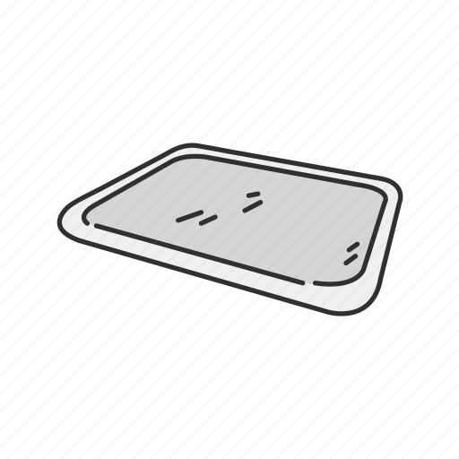 Household, kitchen, kitchen tray, plate, platter, tray icon - Download on Iconfinder