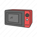 appliances, cooking, heating, household, kitchen, microwave, oven icon