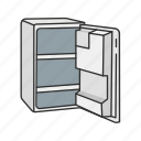 appliances, cooler, food storage, household, kitchen, refrigerator, storage icon