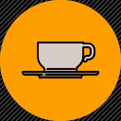 coffe, drink, kitchen, mug, saucer, tea icon