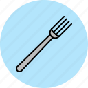 cooking, cutlery, equipment, fork, kitchen, tool icon