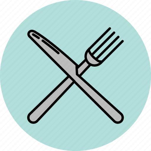 cooking, cutlery, equipment, fork, kitchen, knife, tool icon