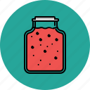 cooking, equipment, food, jam, jar, kitchen icon