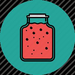 cooking, equipment, food, jam, jar, kitchen icon