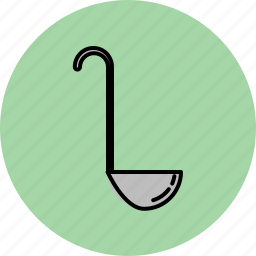 cooking, equipment, kitchen, ladle, soup, tool icon