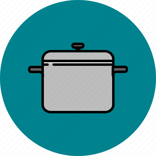 cooking, equipment, kitchen, large, pot, tool icon