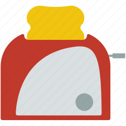 appliance, bread, electrical, equipment, kitchen, toast, toaster icon