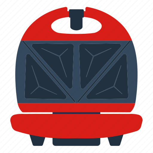 appliance, electrical, equipment, kitchen, maker, sandwitch, wafer icon
