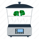 appliance, cooker, electrical, equipment, kitchen, steam, steamer icon