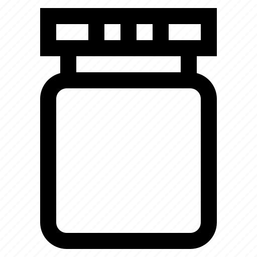 bottle, fruit, jam, jar icon