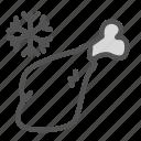bird, flake, food, frozen, meat, snow, thigh icon