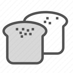 bread, food, slice icon