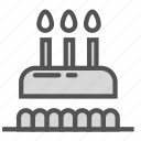 birthday, cake, candle, candy, sweet icon
