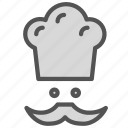 avatar, chef, hat, moustache icon