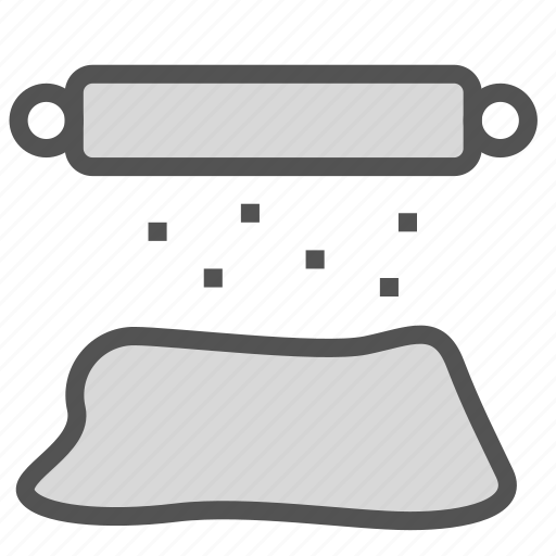 dough, equipment, roller, tool icon