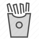 container, food, french, fries icon