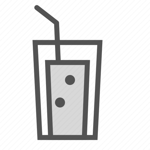 cocktail, drink, glass, juice, straw icon