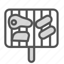 food, grill, meat, sausage, steak icon