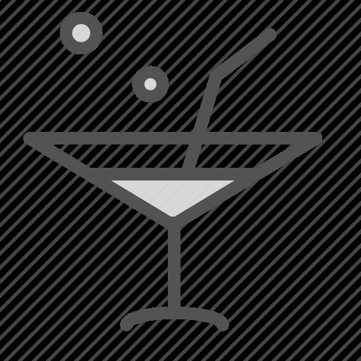 cocktail, glass, martini, sraw icon