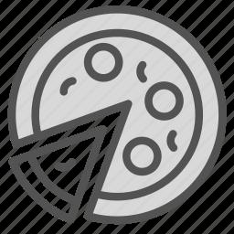 food, pizza, slice icon