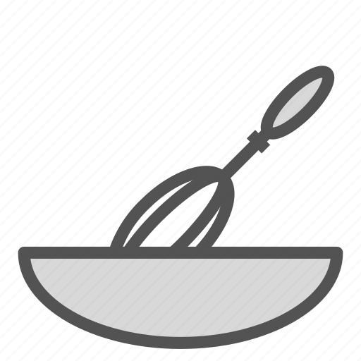 bowl, food, mixer, mixing, wisk icon