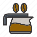 cafe, coffe, coffee, kettle, kitchen, restaurant, tea icon