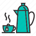 coffee, drink, kettles, kitchen, restaurant, tea icon