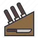 chef, cook, kitchen, knife, set, tool, tools icon