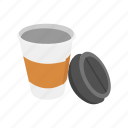 beverage, coffee, coffee cup, container, drink, tumbler icon