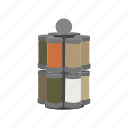 container, kitchen, rack, seasoning, spice, spice rack, storage icon